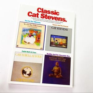 Vintage Classic Cat Stevens Bass Music Book Songs